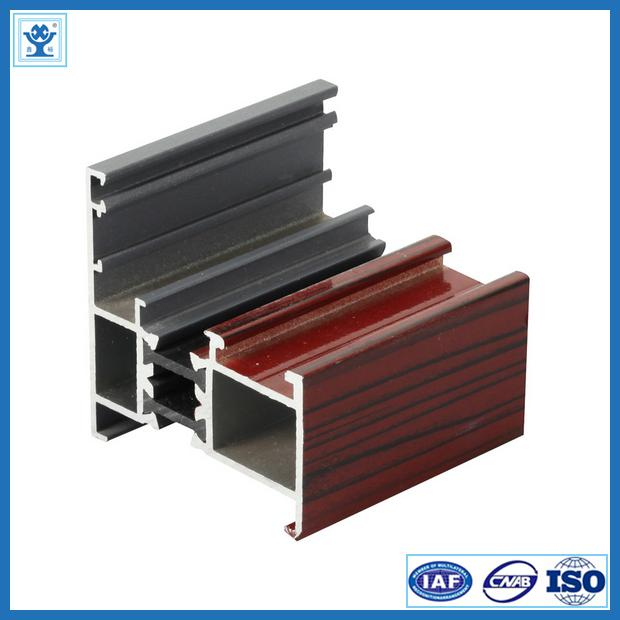 Golden Anodized Aluminium Track Extrusions Mill Finish OHSAS ISO9001 Certification