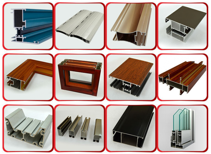 Heat Treatment Outdoor Aluminum Extrusions Shapes Polishing Customized