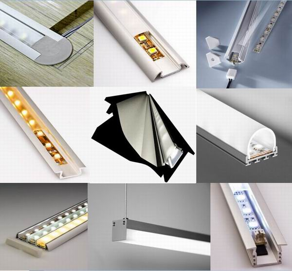 6061 6063 LED Aluminium Extrusion Profiles For Stairs / Cinema Step Decoration