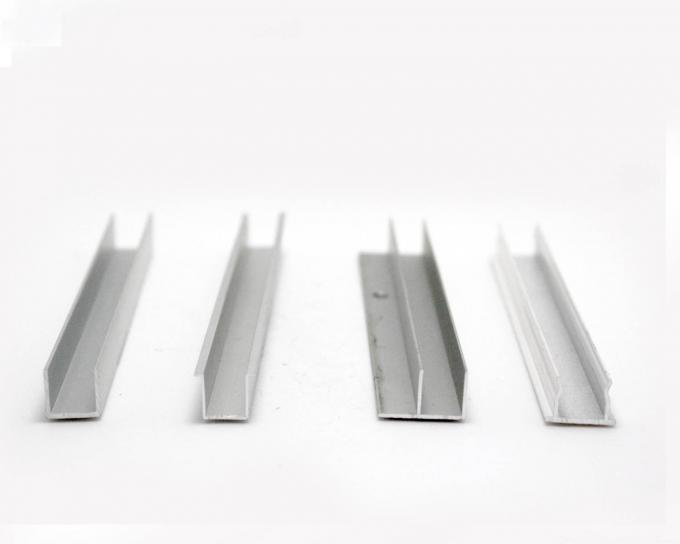 U Type Powder Coating Aluminium Channel Profiles For Building Curtain Glass Walls