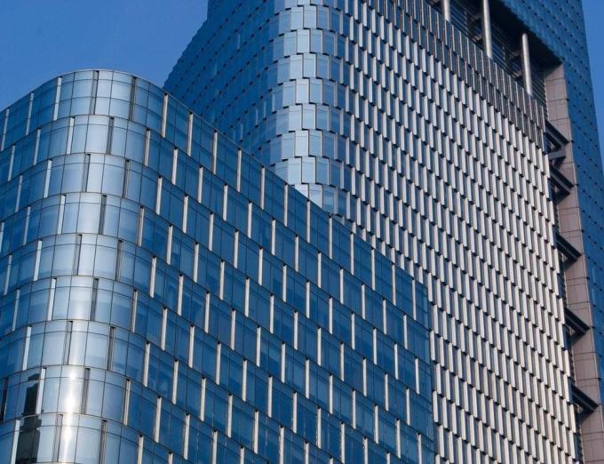 Frameless Glass Aluminium Extrusion Profiles , Extruded Aluminum
