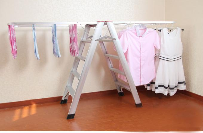 Loft Access Hanging Ladder Custom Aluminum Extrusion Multifunction ISO9001 Certification
