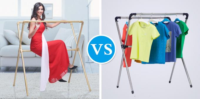 Alloy 6063 Custom Aluminum Extrusion Clothes Airer Table Environmental Friendly