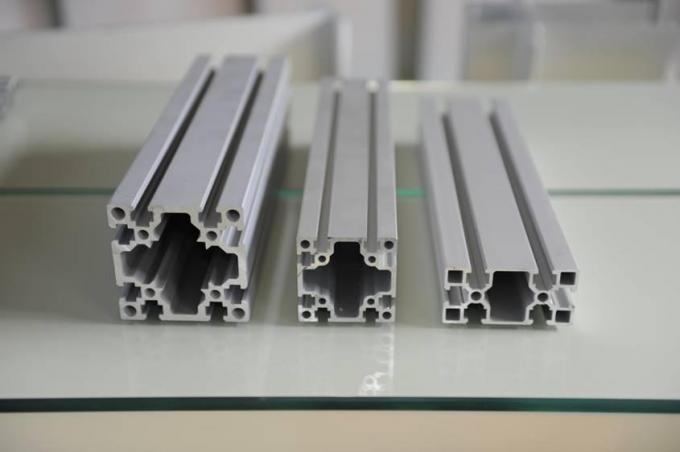 Decorations Extruded T Slot , Silver Anodized T Slot Aluminium Extrusion