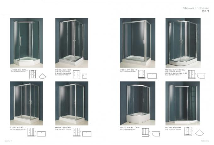 6063 T5 Aluminium Extruded Sections For Shower Cabins / Shower Screen / Glass Door