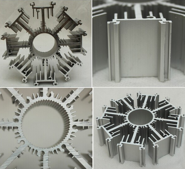 High Density High Powder Aluminium Heat Sink Profiles From Big Extrusion Press