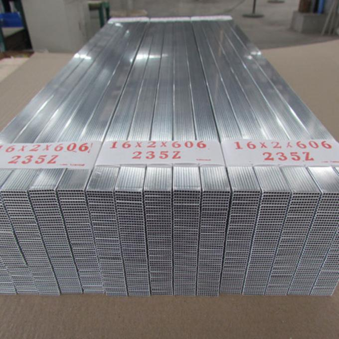 Parallel Flow Microchannel Flat Extruded Aluminum Pipe 1050 1060 1100 H112