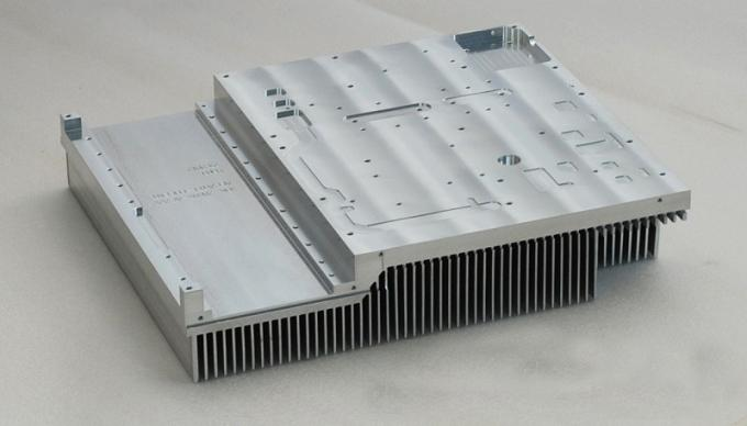 Anodizing 6061 T6 Flat Wide Shape Aluminum Heat Sink With CNC Precision Holes