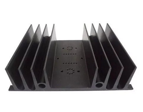 Customized Big Size Flat 6063 T5 Aluminium Heat Sink Profiles With Clear Anodized