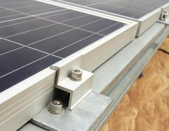 Silver Custom Aluminum Extrusions Solar Frame For Fhotovoltaic New Energy
