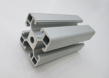 China Silver Industrial T Slot Aluminum Extrusion Stock Shapes Anodised For Assembly Line supplier
