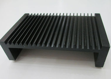 Black Anodized Aluminium Heat Sink Profiles , Extruded Aluminum Heatsink Radiators