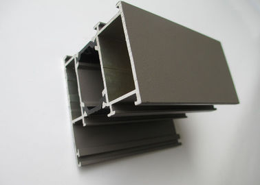 China OEM / ODM Brown Aluminium Sliding Door Profiles Environment Protection supplier