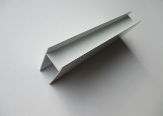 China Construction Decoration H Shaped Extruded Aluminium Sections For Glass / LED Lighting supplier