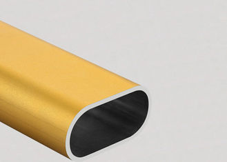 China Colorful Flat Oval Aluminum Tubing  6061 Preciously Cutting Deep Process supplier