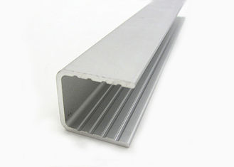 China U Type Powder Coating Aluminium Channel Profiles For Building Curtain Glass Walls supplier