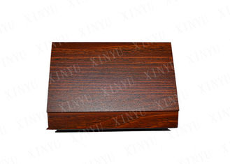 China Cherry Wood Color Aluminum Square Tube for Decoration and Aluminum Floor supplier
