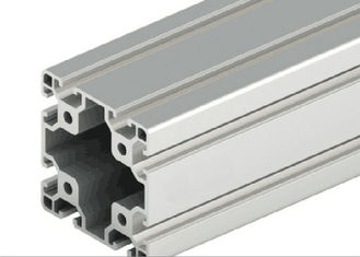 China Decorations Extruded T Slot , Silver Anodized T Slot Aluminium Extrusion supplier