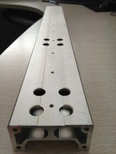 China Aluminium Extrusion Custom Machined Parts With Drilling And Tapping supplier