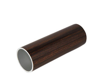 "China 0.75 - 0.8"" Inch Diameter Circle Aluminium Round Tube With Wooden Color Imitation Wood Grain supplier"