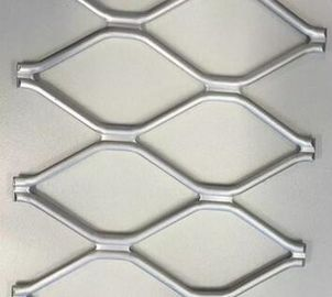 China Powder Coated Aluminium Extrusion Profiles Amplimesh 40*40mm Holes and 4mm / 5mm Wire supplier
