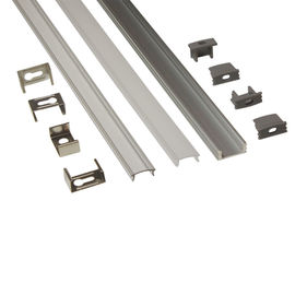 Silver Matt Square / Round Anodized Aluminium LED Profiles For LED Frame