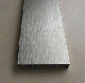 China 6063 T5 Brushed Silver Aluminum Extrusion for Display / Exhibition Industries supplier