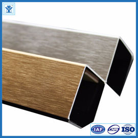 China Brushed Gold Color Anodized Aluminum Angle Profiles for Decoration Material supplier