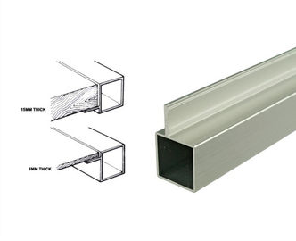 China 25*25mm Powder Coated Aluminum Square Tubing Frame With Connector For Display Shelf supplier