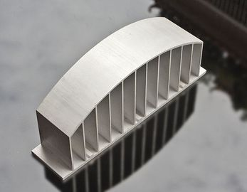 China Sand Blasted Anodized LED Heat Sink Aluminium Profiles High Precision supplier