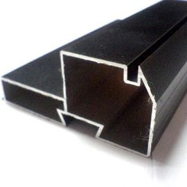 Black Powder Coated RAL9006 Aluminium LED Profiles / Aluminum Extrusion Profiles