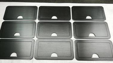 China 150 Grind on Both Side Black Anodized Aluminium Industrial Profile For Sturdy Retractable Lid supplier