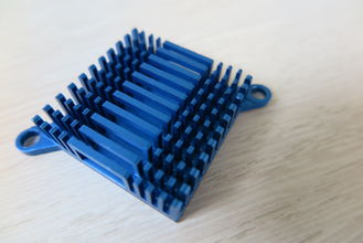 China Blue Air Cooling Aluminum Heat Sink Extrusion Casting And Forging Heat Sink supplier