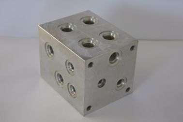 6061 Aluminium Square Aluminum Block CNC Machining Part with 4 Axis Machining