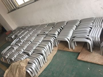 China Machining Silver Anodized AA20um Aluminium Round Tube with Holes supplier