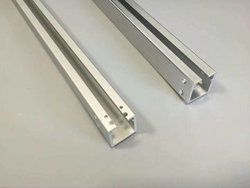 China CNC Machining Hole Aluminium Channel Profiles with Matt Silver Anodizing supplier