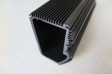 China Black Anodized Extruded Aluminum Heat Sink , CNC Machined Aluminum Radiators supplier