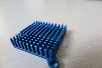 China Blue Anodized Cold Forge Aluminium Heat Sink Profiles For Cooling System​ supplier