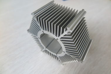 LED Round Sunflower Extruded Heat Sink Profiles With Silver Anodized / Tapping