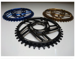 China 7075-T6 Aluminum Color Anodized Race Face 104mm Single Chain Ring 4mm Plate Thickness supplier