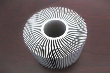 Silver Anodized Aluminum Extrusions Shapes Use For Alumiunm Heat Sink