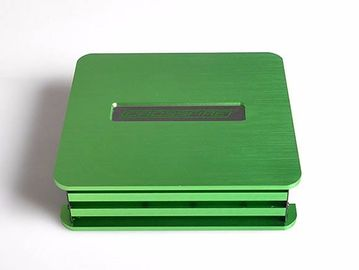 China Green Brushed Anodized Enclosure Cnc Machining Parts With 4 Axis Laser Logo supplier
