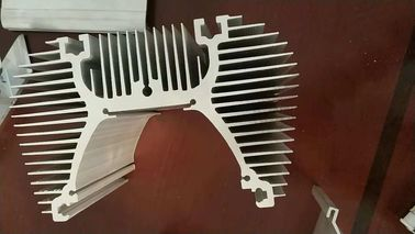 China Branching Shape / Tubular Aluminium Heat Sink Profiles With Tapping Holes supplier