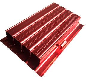 China 6063 Aluminum Housing CNC Machining Parts Anodized Aluminium Profile Red Color supplier
