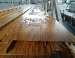 China Plank / Decking / Flooring Aluminium Extruded Profiles With Wooden Color supplier