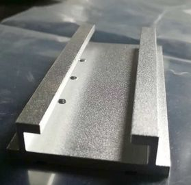 China Sandblasted Aluminium Extrusion Profiles Extruded Aluminum Parts With Machining Holes supplier
