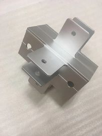 China CNC Machining Aluminum Bracket with Drilling Holes Silver Anodized Silver Color supplier