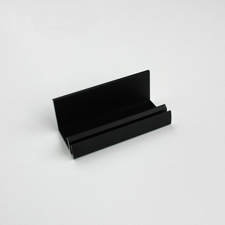 Black Anodizing Aluminium Extrusion Profile For Frameless Solar Panel with CNC Machining