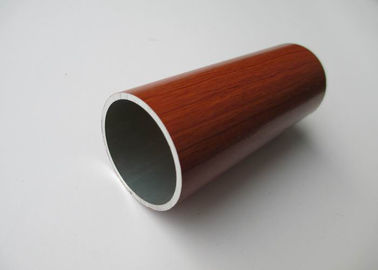 Diameter 30mm Aluminium Round Tube Wood Grain Painted Environment Protection