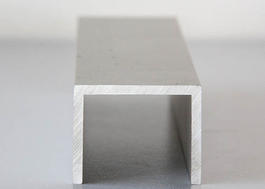Silver Anodized Aluminium Channel Extrusions , Architectural Aluminum Channel
